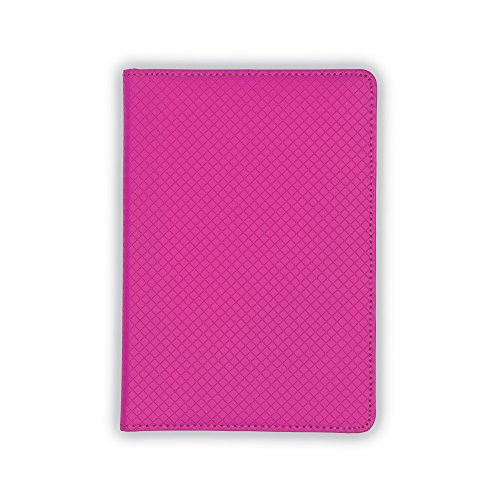 folio for Women, Diamond Deboss Design, Junior Size Writing Pad, 5 x 8 inches (Pink) (Mini Purple Diamonds)
