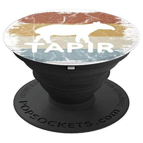 Cool Trendy Tapir Funky Retro 60s Vintage Style - PopSockets Grip and Stand for Phones and -