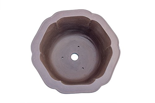 Extra Large Bell Shaped 16'' Deep Yixing Zisha Purple Clay Bonsai Pot (PC17-4)