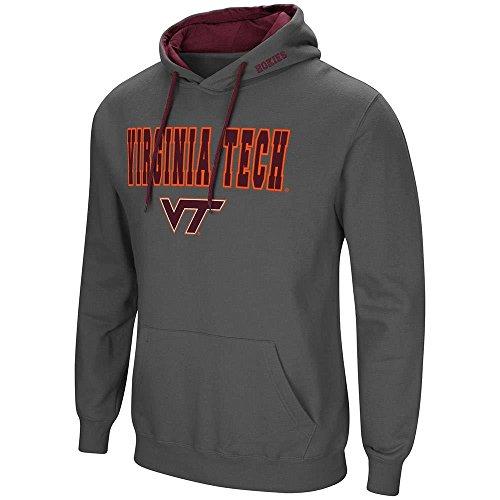 Virginia Tech Mens Hooded Sweatshirt - Colosseum Mens Virginia Tech Hokies Pull-Over Hoodie - XL
