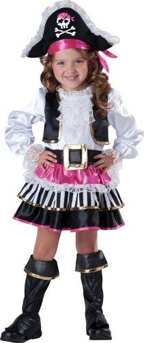 (InCharacter Baby Girl's Pirate Girl Costume, Pink/White, 3T)