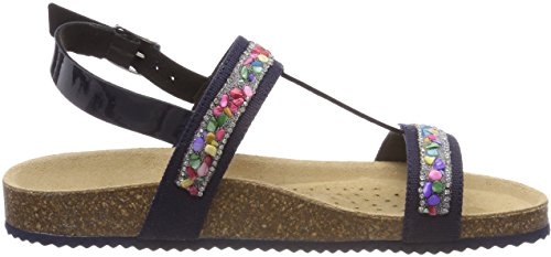 Azul Con Aloha J navy Sandalias B New Niñas Sandal Vertical Tira Geox Para PB4Hnxw