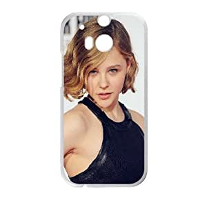 HTC One M8 Cell Phone Case White hf86 chloe moretz in black film actress Sncfc