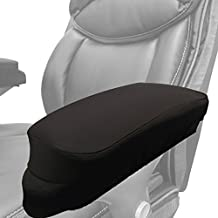 """Memory Foam Soft Chair Arm Pad Covers Stretch Over Armrests 10.5"""" to 13"""" Long. Upgrade and Protect your Chair, and Cushion Chair Armrests. Complete Set of 2. Simple Installation."""