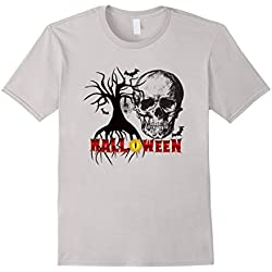 Scary Halloween T-Shirt Costume Skull Bats Trick Or Treat