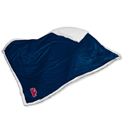 Logo Brands NCAA Mississippi (Ole Miss) Sherpa Throw Blanket (Throw Tailgate Blanket)