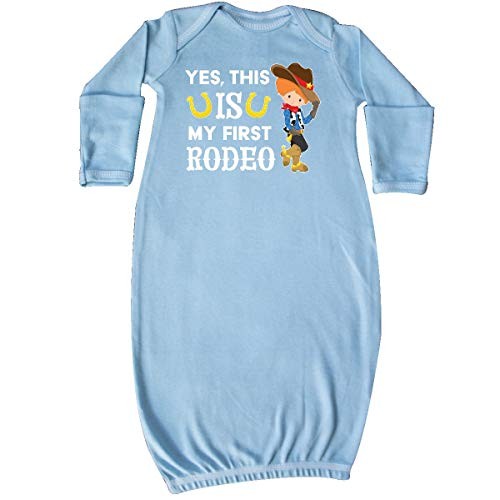 inktastic - Yes, This is My First Rodeo- Cowboy Newborn Layette Light Blue 35619