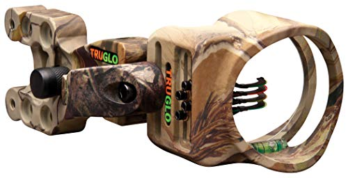 TRUGLO Carbon XS Lightweight Carbon-Composite Bow Sight, Realtree APG Camo