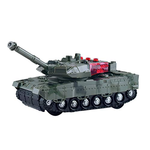 Tank Sound (PSFS RC Panzer Tank,Remote Control Mini RC Tank Rotating Turret Realistic Sounds & Light (Army Green))