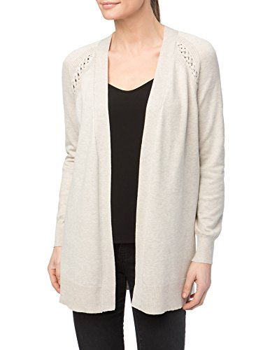89th&Madison Woven Trim Notched Hem Duster Cardigan by 89th&Madison