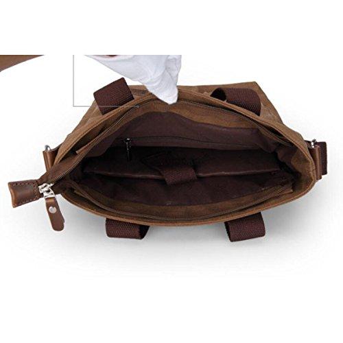 CHENGXIAOXUAN Hombre Negro Bolsa De Lona de Color Caqui Bolso De Hombro Bolsa Bolsa De Mensajero De Alta Calidad Bolso Portátil Versión Vertical Brown