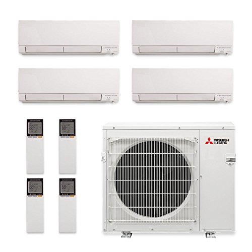 Mitsubishi MXZ-4C36NAHZ-4WF-03 - 36,000 BTU Quad-Zone Hyper Heat Wall Mount Mini Split Air Conditioner 208-230V (9-9-12-12) price
