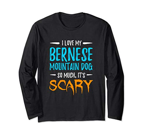 Bernese Mountain Long Sleeve Shirt Dog Mom Halloween -