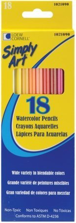 Loew-Cornell 1021090 Simply Art Watercolor Pencils 18-Pkg