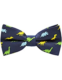 Boys Bow Ties Handmade Adjustable Pre-Tied Pattern Bow Ties For Kids