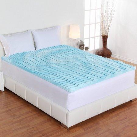 Dream Form 2-inch Orthopedic 5-zone Gel Foam Mattress Topper Size, Full by Comfort