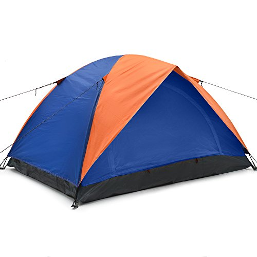 Odoland-2-Person-4-Seasons-Portable-Outdoor-Folding-Tent-Waterproof-2-Doors-Fiberglass-for-Outdoor-Camping-Hiking-Dome-Tent-Double-Person-Backpacking-Tent