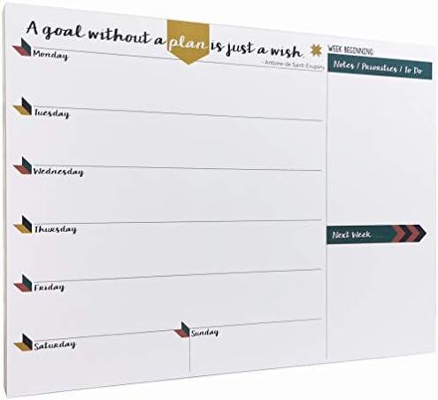 Tabitha Wilde A4 Wochenplaner, Notizblock mit 55 Blättern. Der Terminplaner, mit dem Sie keinen Termin mehr verpassen! Alle wichtigen Events in diesem Monatsplaner festhalten!