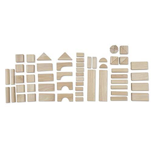 "41H4CbT6c2L - Melissa & Doug Standard Unit Solid-Wood Building Blocks with Wooden Storage Tray, Developmental Toy, 60 pieces, 5.25"" H x 12.5"" W x 15"" L"