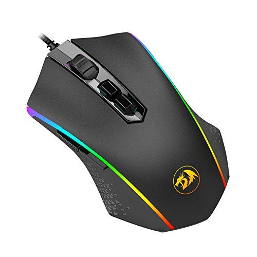 41H4D4KV46L - Redragon M710 Gaming Mouse, High-Precision Ambidextrous Programmable Gaming Mouse with 7 RGB backlight modes and tuning weights (MEMEANLION CHROMA)
