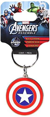 Plasticolor 004339R01 Marvel 'Captain America' Metal Keychain