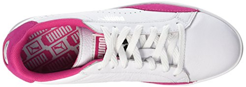 Puma Damen Match Lo Basic Sports Sneaker, Mehrfarbig Weiß (Puma White-Fuchsia Purple 20)