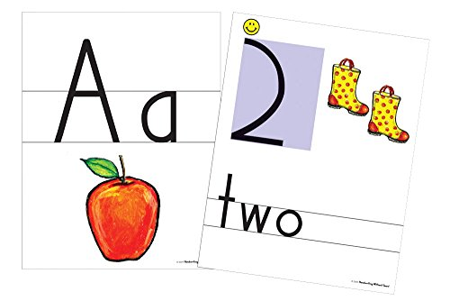 Handwriting without Tears Color Print and Number Wall Card, 8-1/2 X 11 in, Pack of 36 by Handwriting Without Tears