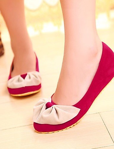 rojo red terciopelo naranja talón negro Flats de mujer de eu35 plano Ballerina vestido cn34 us5 zapatos PDX casual uk3 xn467FwBqn