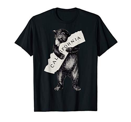 Bear Hug Retro I Love California Shirt Art-Vintage Cali Bear T-Shirt]()