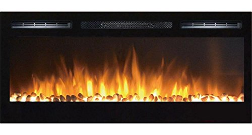 Gibson Living GL2036WS Madison 36 Inch Pebbles Recessed Obstacle Mounted Electric Fireplace