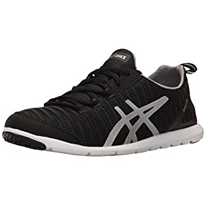 ASICS Women's Metrolyte-W Walking Shoe, Black/Aluminum/Silver, 8 M US