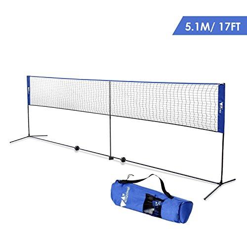 Amzdeal Badminton Net 17ft Long ...