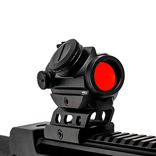 EVOLUTION OPTICS Micro Red Dot Reflex Sight -2 MOA Red Dot Magnifier Sight - Auto Shutoff - Standard Picatinny Rail Ready to Equip - Riser for Co-Witness Reflex Sight - Red Dot Riser