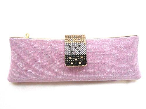 Selena Love Frame Clutch Bag, Heart Pink ()