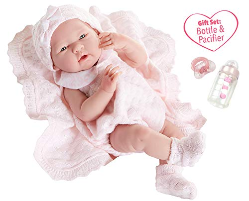 JC Toys La Newborn All-Vinyl-Anatomically Correct Real Girl