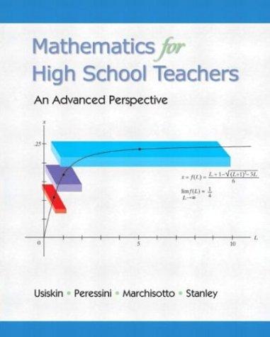 Mathematics For High School Teachers