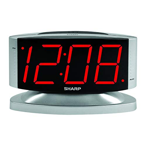 Sharp SPC033D Red LED Alarm Clock with Swivel Case