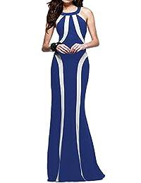 YOLL Womens Sleeveless Long Casual Summer Beach Party Evening Maxi Dress