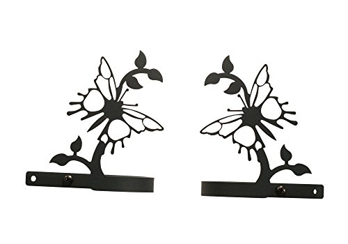 Butterfly Curtain Tie Back - Village Wrought Iron 4.63 Inch Butterfly Curtain Tie Backs