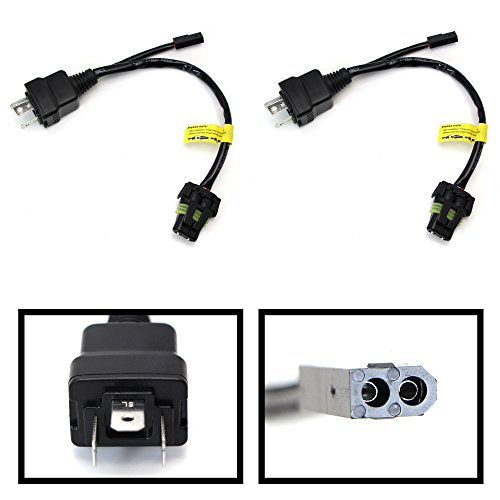 iJDMTOY (2) Easy Relay Harness For H4 9003 Hi/Lo Bi-Xenon HID Conversion Kit Xenon Bulbs Wiring Controllers Bi Xenon H4