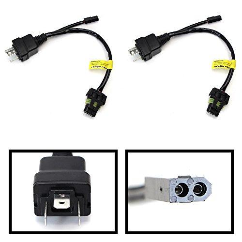 [iJDMTOY (2) Easy Relay Harness For H4 9003 Hi/Lo Bi-Xenon HID Conversion Kit Xenon Bulbs Wiring Controllers] (Bi Xenon Hid Conversion Bulb)