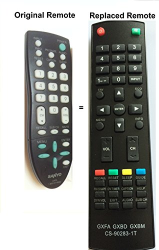 New Replaced Sanyo GXFA Replaced Remote for GXCC DP19648, DP26649, DP19649, DP32642, DP46812 (Sanyo Dp26640 Tv)
