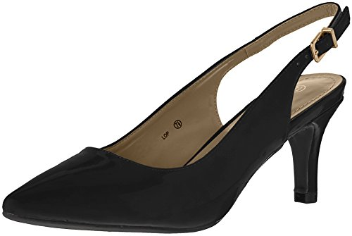 Pump Black Lop Women's DREAM PAIRS Patent qzwgxHwfY