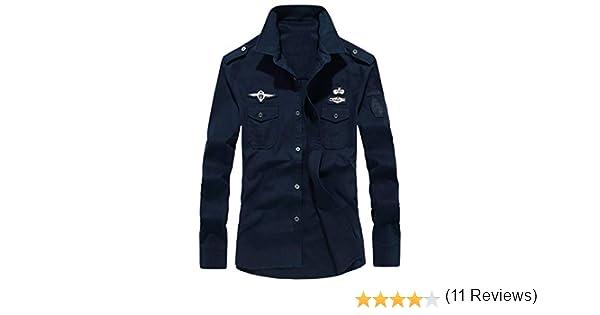 Camisa Hombres 2018 Moda otoño Camiseta de Manga Larga de botón Militar de Carga para Hombre Blusa Deportivas Pollover Outwear Tops de Vestir