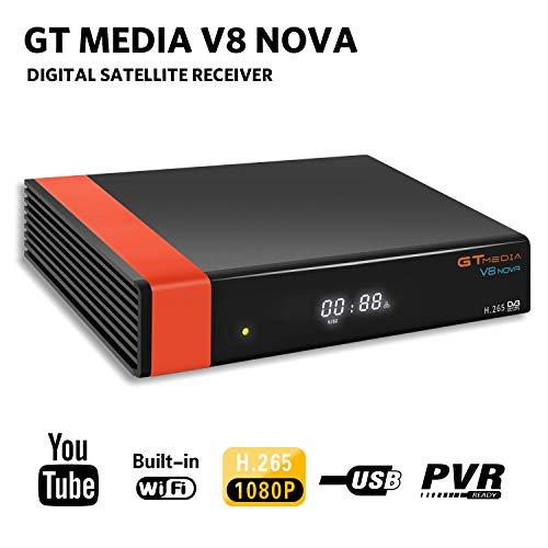 🥇 GT Media V8 Nova DVB-S2 Decodificador Satélite Receptor de TV Digital con Wi-Fi Incorporado / SCART / 1080P Full HD / FTA Soporte CCcam