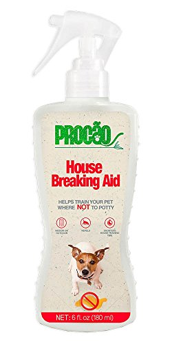 Dog Potty Trainer - Procão - House Breaking Aid No Go - 6 fl oz bottle - Indoor or Outdoor Use, Teaches Pets Where Not To Go, and Shortens Potty Training Time - Repels Pups to From No Go Zones