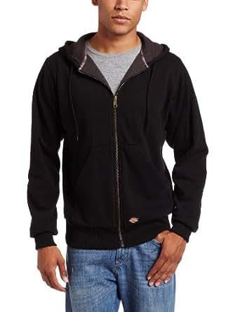 Dickies Adult Thermal Lined Pocket Hooded Fleece Jacket, Black, Small