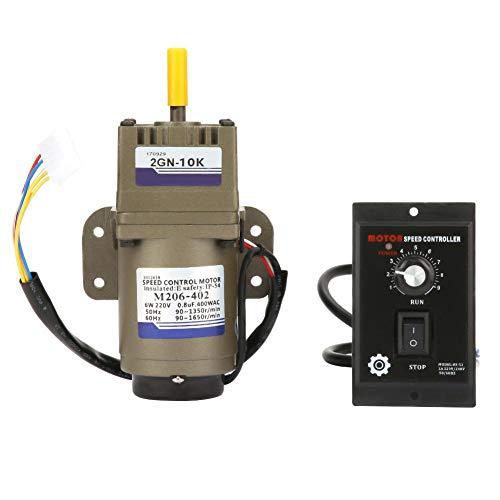 Drehzahlminderer, AC 220V 6W Einphasen Asynchron Getriebemotor Verzögerung Einstellbar Geschwindigkeit für Verpackungsindustrie, Werkzeugmaschinenindustrie, Transportgeräte(10K)