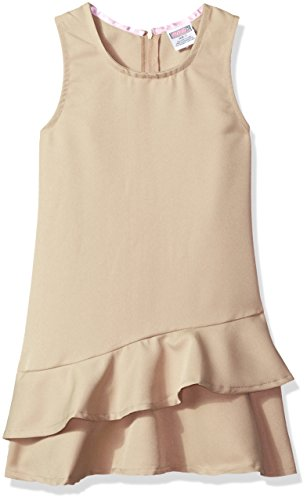 Genuine Big Girls' Dress or Jumper (More Styles Available), Poly Khaki-IHVHK, 8