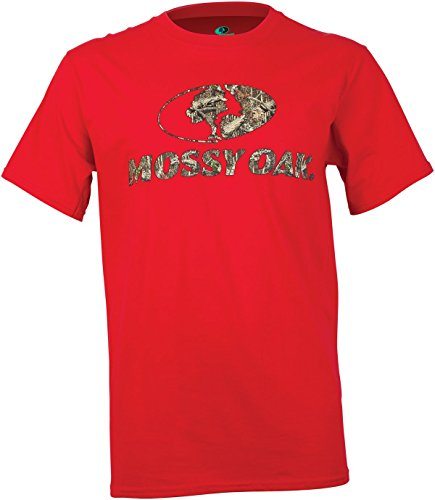 - Mossy Oak Men's Front Logo Short Sleeve T-Shirt, Red, Medium